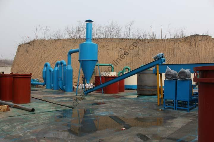 whole set of straw charcoal processing machines