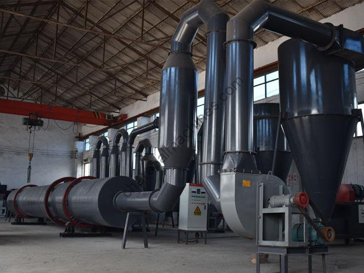 rotary dryer machine with dust collector