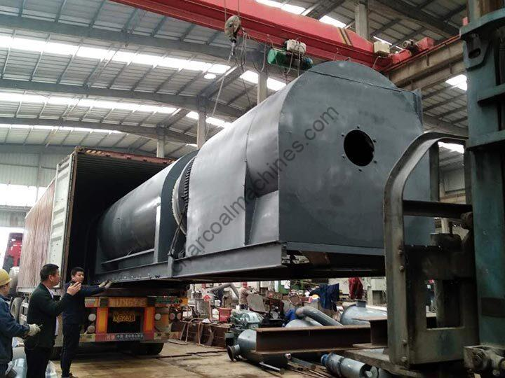 charcoal machine for shipping to Nigeria
