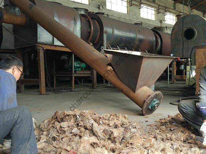coconut shell charcoal processing plant