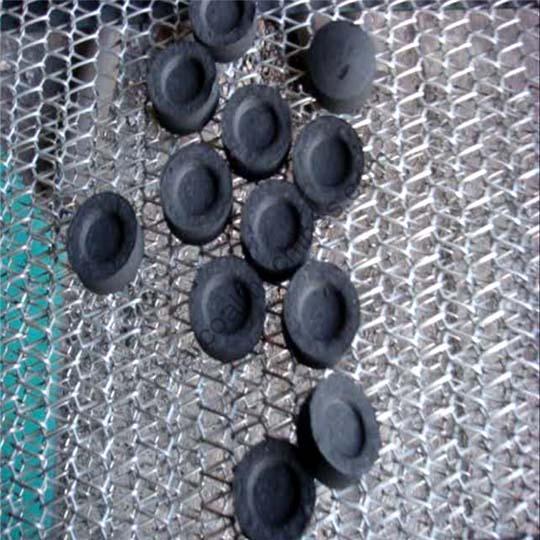 Round shisha charcoal flake