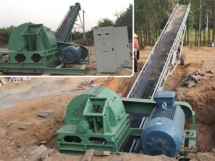 applications of wood crushers with conveyors