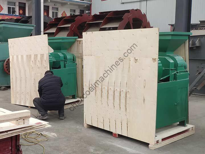 barbecue charcoal press machine for shipping to America