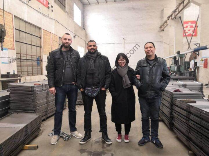 The German customer visited the Shuliy charcoal machine factory.