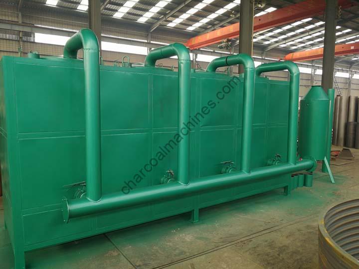 Airflow hoisting carbonization furnace