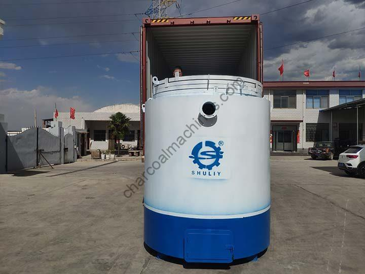 Shuliy carbonization furnace for shipping to Sudan