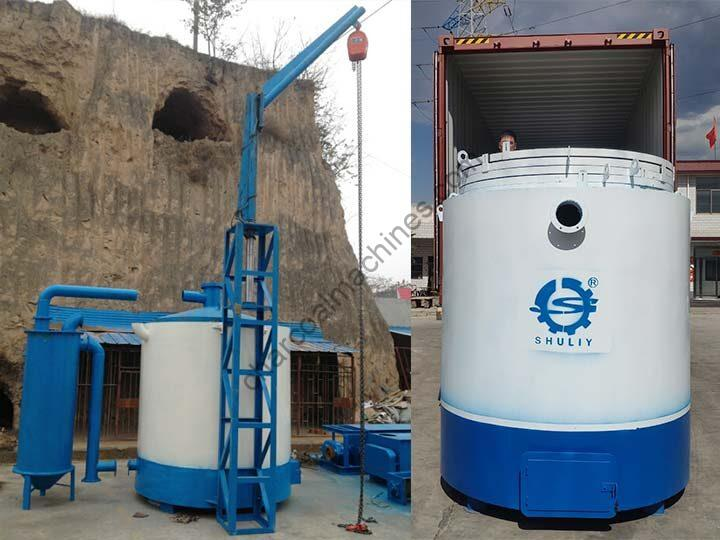 airflow carbonization furnace with hanging device