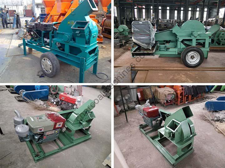 disc wood chipper with diesel engine