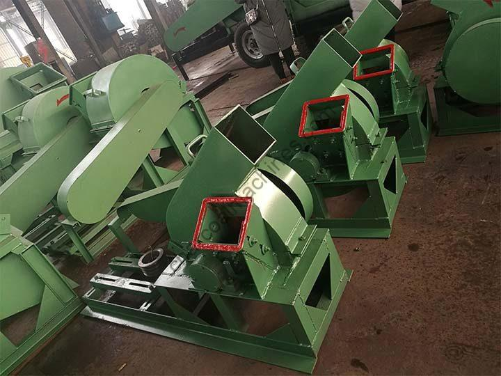 small wood chippers in factory