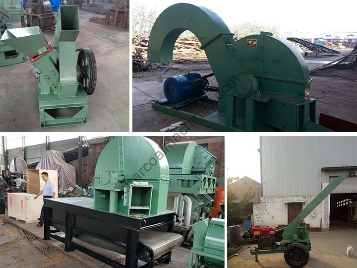 various types of wood chippers in Shuliy factory
