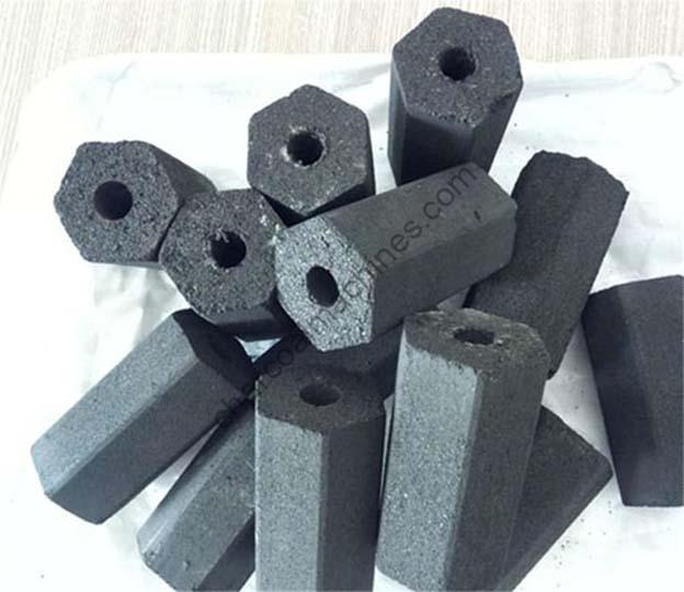 well formed charcoal briquettes