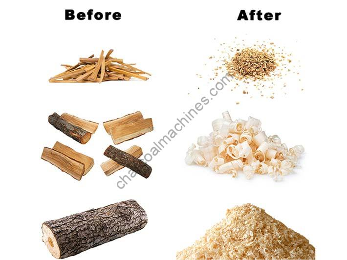 wood shavings production