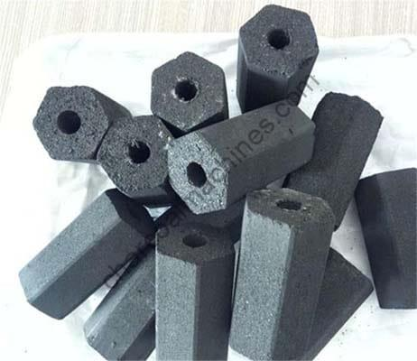 charcoal briquettes with different shapes