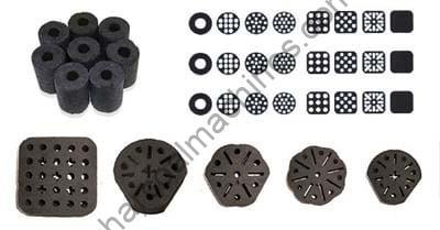 coal briquettes with different shapes