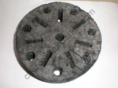 coal briquettes with flower shape
