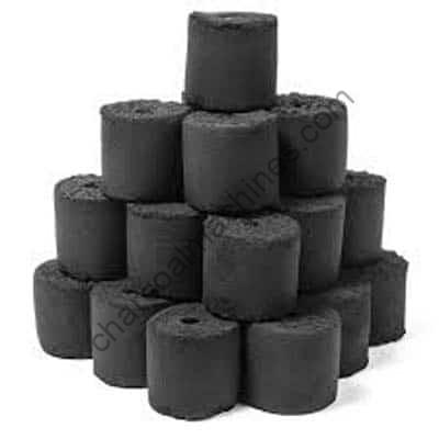 cylindrical charcoal briquettes