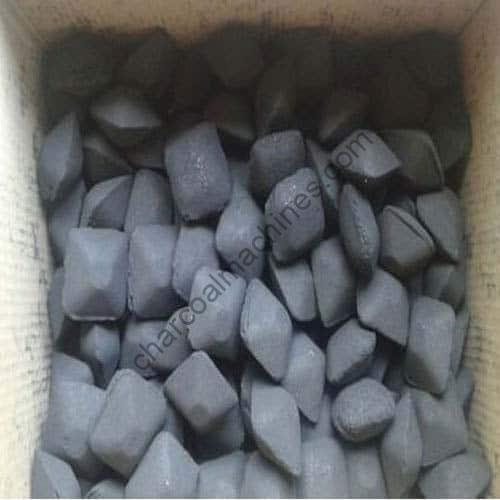 pillow shape charcoal or coal briquettes