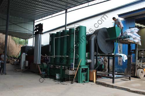 continuous bamboo charcoal making machine
