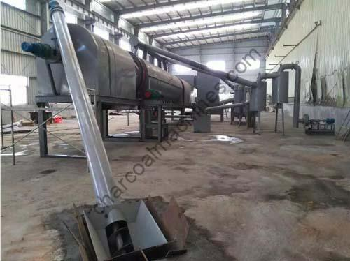 continuous carbonization furnace for palm shell charcoal