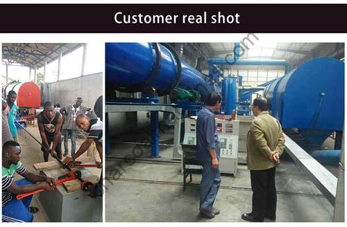 customers case of bamboo charcoal machine