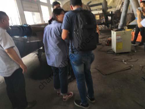 customers-in-charcoal-making-machine-testing