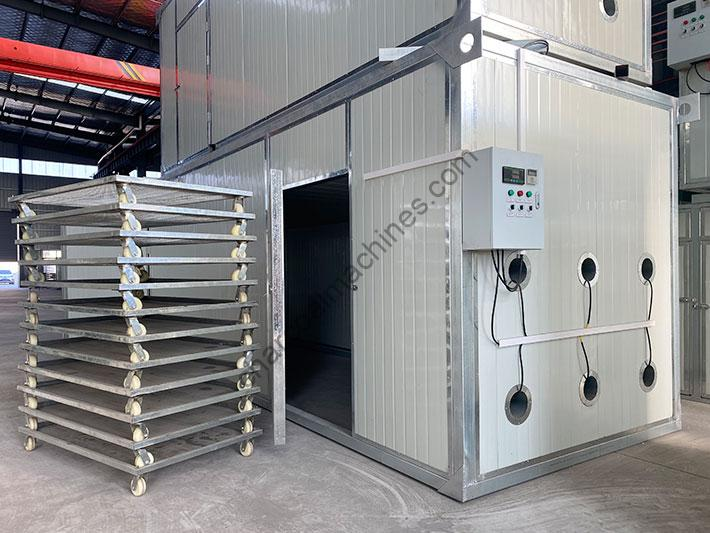 complete charcoal briquettes drying machine
