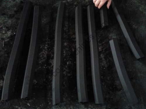 cubic charcoal briquettes