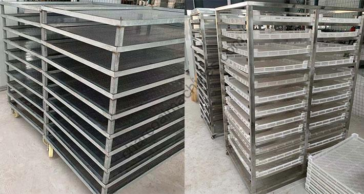different drying trays
