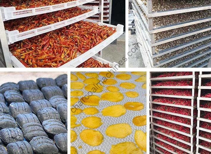 wide applications of charcoal dryer machine