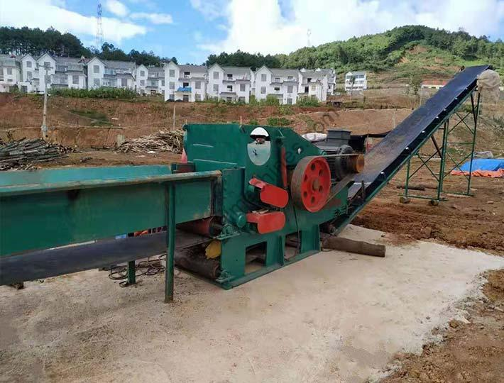 large wood chipping machine applications