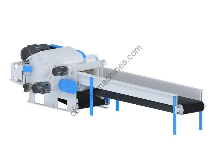 wood chipper shredder with a conveyor