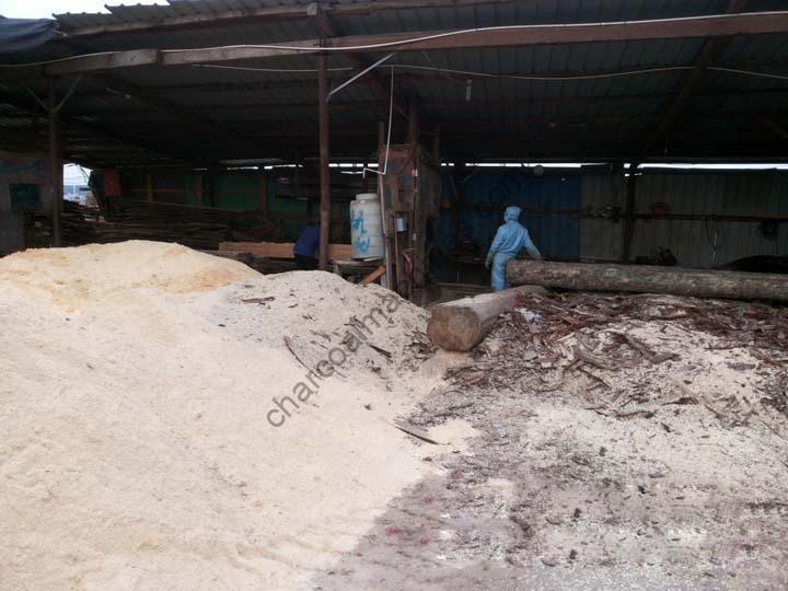 sawdust production site