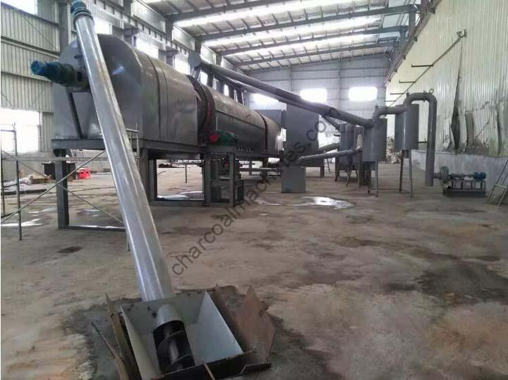 charcoal processing plant with continuous charcoal furnace