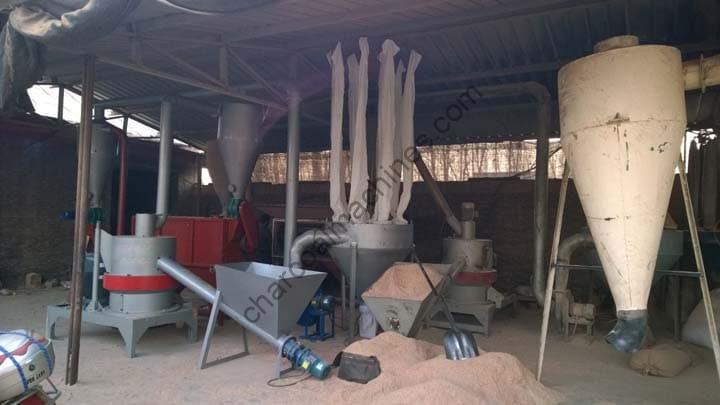 Korean customer's plant for making wood powder