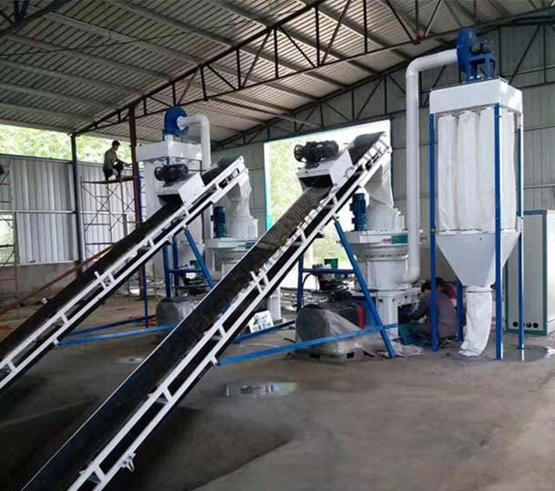 small wood pellets processing line