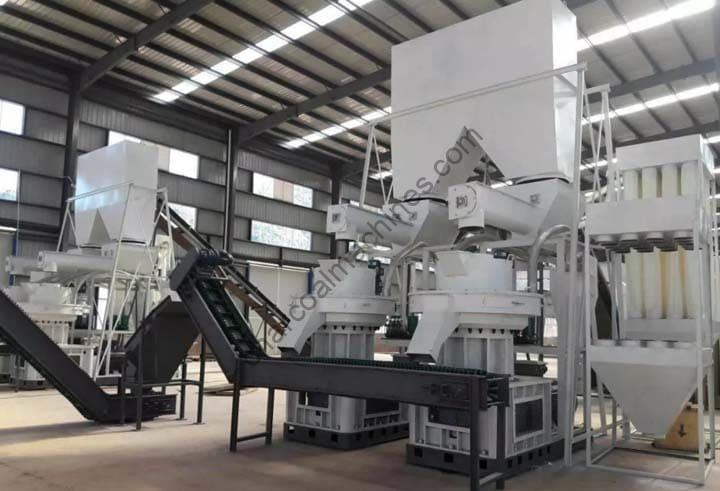 wood pelletizers in the processing plant