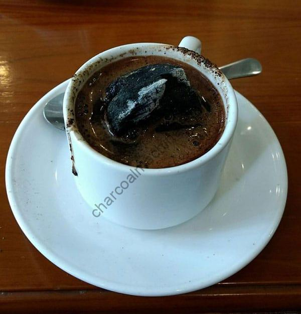 Indonesian coffee charcoal with the machine-made charcoal