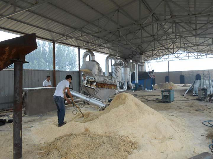 whole set of charcoal machines of our customer