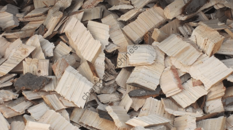 wood chips made by the electric wood slicer machine