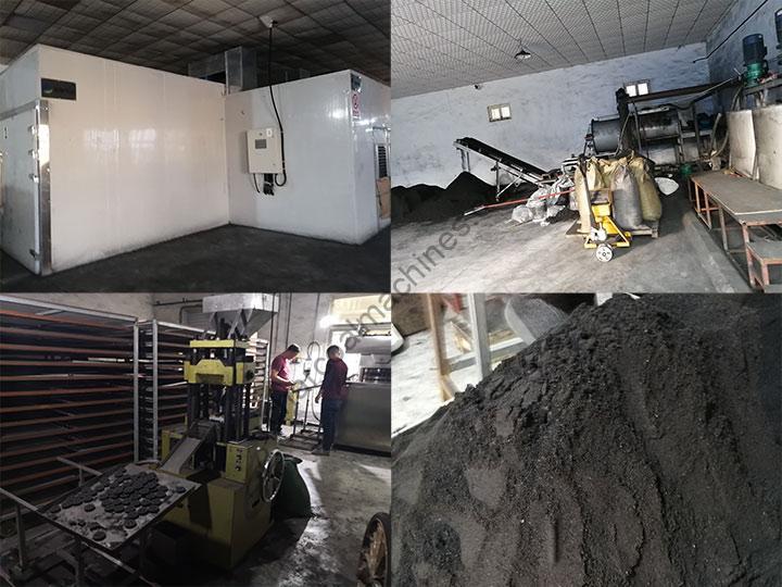 hookah charcoal processing details in Shuliy