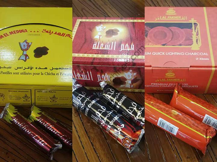 various shisha charcoal packaging forms