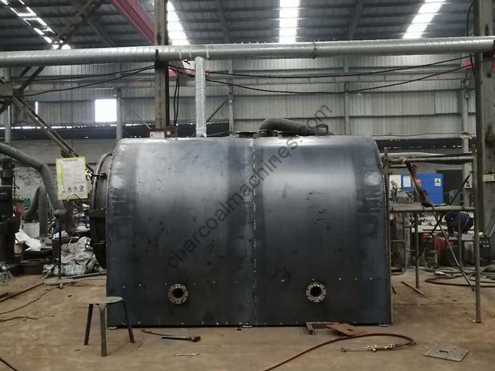 Newly manufactured ccharcoal furnace for shipping