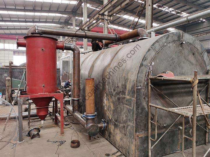 horizontal carbonization furnace is in manufacturing
