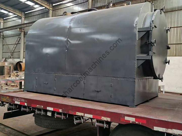 horizontal charocoal making furnace for Ghana