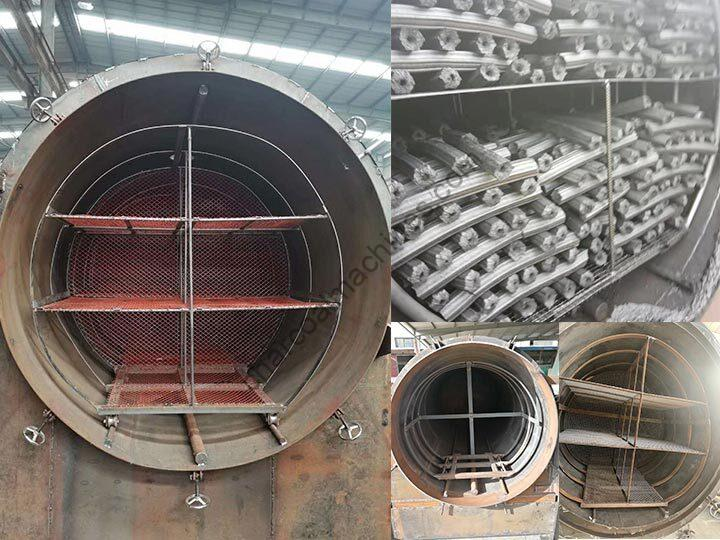 inner structure of the horizontal charcoal furnace