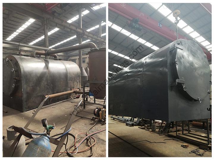 log airflow charcoal making machine of Shuliy factory