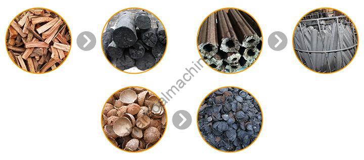log charcoal furnace's applications