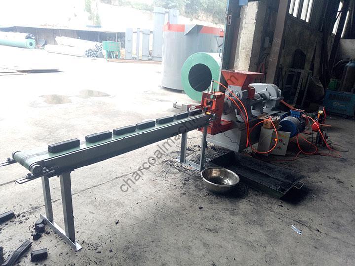 coconut charcoal briquettes production