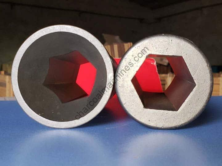 charcoal briquette extruder mold with hexagonal shape