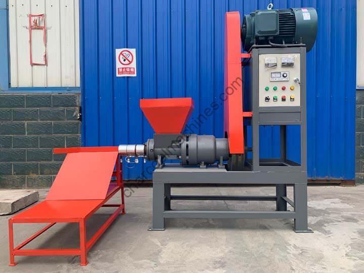 complete sawdust briquette machine in factory